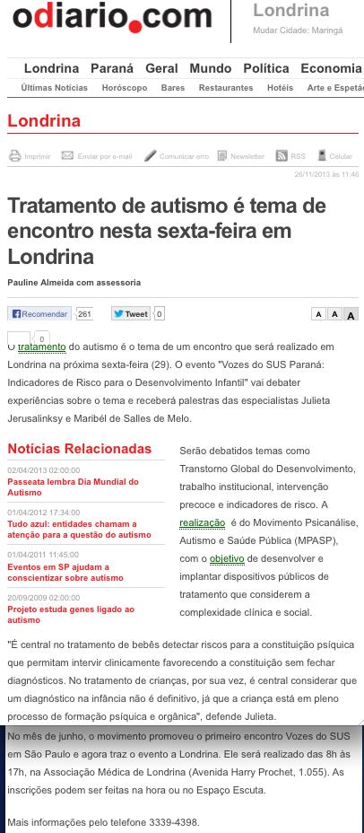 O Diário.com . 26 de novembro de 2013